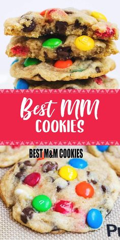 INGREDIENTS 1 cup unsalted butter , at room temperature 1 cup light brown sugar cup granulated sugar 2 large eggs 2 teaspoons vanilla 3 . M&m Cookie Recipe, Biscuit Recipe, Cookie Recipes, Dessert Recipes, Cookie Desserts, Just Desserts, Delicious Desserts, Yummy Food, M M Cookies