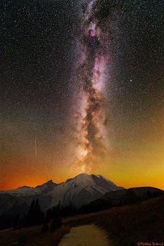 Mt. Rainier Eruption! Photo by Matt Dieterich -- National Geographic Your Shot