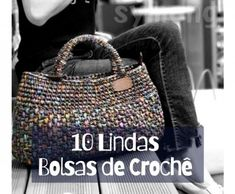 De Croche De Croche barbante De Croche com grafico De Croche de mao De Croche festa - Bolsa De Crochê Crochet T Shirts, Crochet Blouse, Crochet Clothes, Crochet Mandala Pattern, Crochet Stitches, Crochet Patterns, Crochet Poncho With Sleeves, Crochet Beach Bags, Crochet Mask