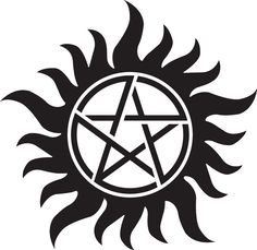 Supernatural- Sam and Dean's Protection tattoo/Anti-possession The Supernatural, Supernatural Anti Possession Tattoo, Anti Possession Symbol, Supernatural Symbols, Demon Possession, Supernatural Tattoo, Supernatural Pentagram, Supernatural Birthday, Supernatural Convention
