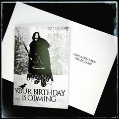 Game of Thrones themed birthday card! Suitable for any fan especially the bastards!  #gameofthrones #GoT #birthday #birthdaycard #birthdaycards #gameofthronescard #bastard #bastardbirthday