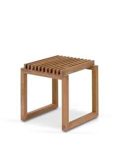 Cutter Bench 120, Oak, FSC Mix Small Wooden Stool, Wooden Stools, Stainless Steel Railing, Folding Seat, Outdoor Stools, Original Design, Space Saving Storage, Mortise And Tenon, Types Of Wood