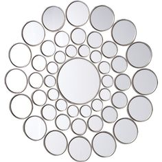 Circles Wall Mirror ($230) ❤ liked on Polyvore featuring home, home decor and mirrors
