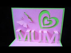 Mother's day pop up card - learn how to make a popup card as a gift for mum (mom) - EzyCraft - YouTube
