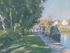 Moorings on the Chesterfield Canal.David Curtis