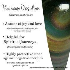 Rainbow Obsidian crystal meaning