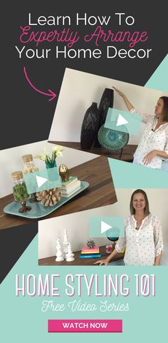 I love this video series so much! Her decorating tips are easy to follow and you can use the accessories you already have. She'll show you how to make any room look better by just rearranging the decor. I'm in love with interior styling now. Watch the first two videos and you'll be hooked.
