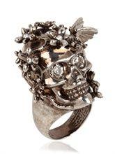 Alexander McQueen skull ring, $345