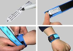 Great for vacation! ID bracelet that keeps information out of sight, but available if child ever gets lost.