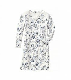 @Who What Wear - Gap Eyelet-Back Floral Sweatshirt Dress ($40) in White Floral  Floral and flattering…