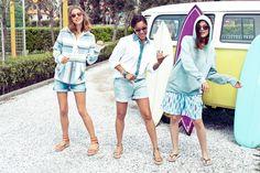 Felpa di Candela, camicia di Tamu, felpa e bermuda di Eleonora: Surf Shack capsule collection, occhiali da sole Tommy Hilfiger Surf Shack by Safilo #SurfShack