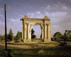 """[Image: Simon Norfolk. """"King Amanullah's Victory Arch built to celebrate the 1919 winning of Independence from the British. Paghman, Kabul Province."""" From Afghanistan: Chronotopia.]"""