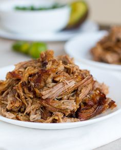 Easy crockpot carnitas. Looks amazing! Will try in pressure cooker since I don't have a crockpot...