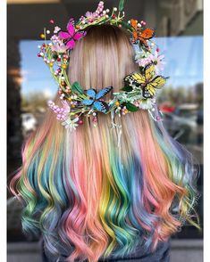 7 Cotton Candy Hair Colors You will Like to Wear on You! - We have collected some cotton candy hair colors that you should try and flaunt off your hottest vog - Cute Hair Colors, Pretty Hair Color, Beautiful Hair Color, Hair Color Purple, Hair Dye Colors, Rainbow Hair Colors, Pastel Rainbow Hair, Unicorn Hair Color, Colorful Hair