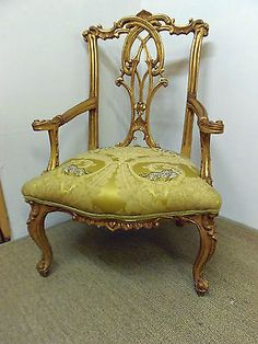 safari style furniture. French Antique Style Gilt Framed Upholstered Armchair Safari Tiger Gold Furniture