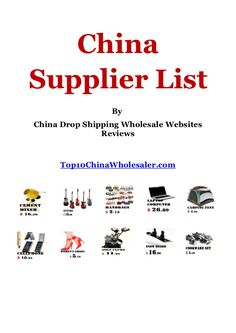 China drop shipping, suppliers and wholesale websites list
