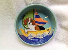 Beagle 8 Dog Bowl for Food or Water Personalized at no Charge Signed by Artist Debby Carman *** You can find more details by visiting the image link. (This is an affiliate link) Elevated Dog Bowls, Raised Dog Bowls, Dog Vitamins, Stainless Steel Dog Bowls, Ceramic Dog Bowl, Dog Water Bowls, Pet Cremation, Pet Urns, Dog Travel