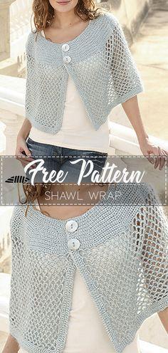 42 Ideas For Crochet Shawl Pattern Free Scarves Hooks Crochet Shrug Pattern Free, Knitting Patterns Free, Crochet Patterns, Pattern Sewing, Free Pattern, Crochet Jacket, Knit Crochet, Crochet Shrugs, Crochet Scarves