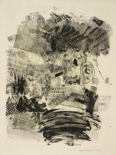 Robert Rauschenberg - Lawn, 1965 - Lithograph on paper Franz Kline, Jasper Johns, Robert Rauschenberg, Willem De Kooning, Richard Diebenkorn, Joan Mitchell, Jackson Pollock, Abstract Expressionism, Abstract Art