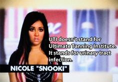 The dumbest, funniest, and most WTF quotes from MTV's Jersey Shore! Snooki Hair, Snooki And Jwoww, Nicole Snooki, Cabs Are Here, Fist Pump, T Shirt Time, The Mindy Project, Urinary Tract Infection, Short Models