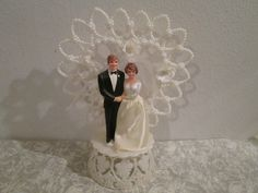 Vintage 1959 Wedding Cake Topper....Bride and by memorimakers, $10.00