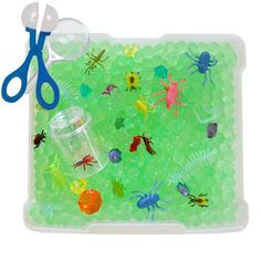 All-in-one portable Creepy Crawler Bug Discovery Box encourages sensory play for preschoolers