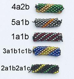 Koraliki tudzież: kurs sznurów szydełkowo-koralikowych - Pin This Bead Crochet Patterns, Crochet Motifs, Bead Crochet Rope, Seed Bead Patterns, Filet Crochet, Beading Patterns, Beaded Crochet, Beaded Bead, Crochet Beaded Bracelets