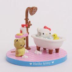 Bath time Hello Kitty.