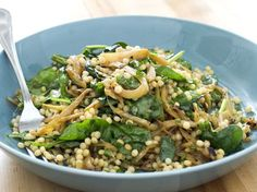 Israeli Couscous with Caramelized Fennel and Spinach