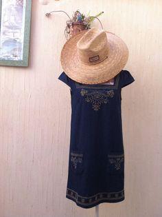 vintage cowboy jurk jurk korte vaquero-vestido door VintageBeachHut