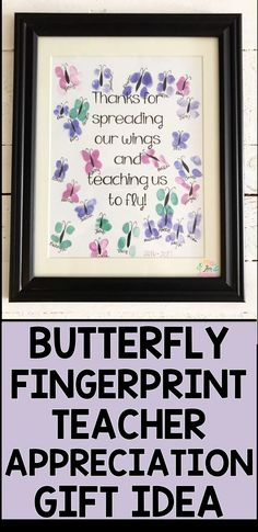 Fingerprint Teacher Appreciation Gift Idea