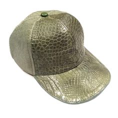 4ae4eb28167b3 All-Over Olive Handmade Crocodile   Ostrich Quill Strapback Hat Strapback  Hats
