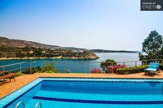 Exceptional villa with direct sea access above Loutraki Beach Crete