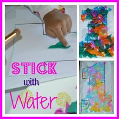Toddlers and Pre-K kids can do this art activity which develops fine motor skills. Use this for an arty number recognition exercise. Toddler loved it.