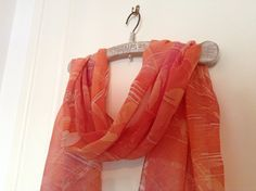 Hand Painted Muslin Scarf by VioletaMarket on Etsy