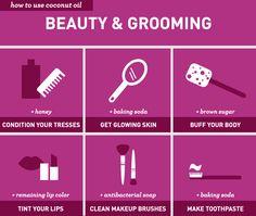 76 Genius Ways to Use Coconut Oil: Beauty & Grooming