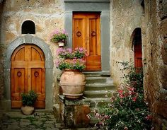 wooden doors. lovely.