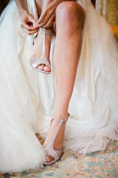 beautiful blush wedding shoes