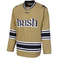 Can someone please buy this for me. I can't justify spending $100 on it. Reebok Notre Dame Fighting Irish Premier Hockey Jersey - Gold