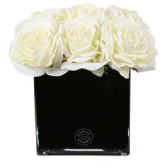 Herve Gambs White Couture Rose, Love it! #design #interiordesign #details