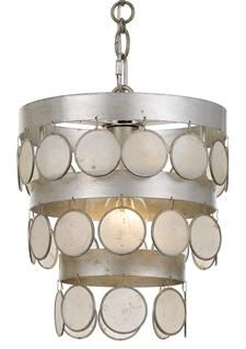 Buy the Crystorama Lighting Group Antique Silver Direct. Shop for the Crystorama Lighting Group Antique Silver Coco Single Light Wide Mini Chandelier with Draped Capiz Shell Accents and save. Silver Chandelier, Mini Chandelier, Chandelier Lighting, Crystal Chandeliers, Drum Pendant, Mini Pendant, One Light, Decorating Tips
