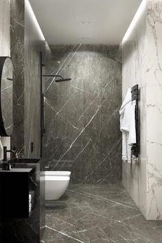 Marble Bathroom 30 inspiring bathroom design ideas made of black marble with a stylish accent, Bathroom Shower Faucets, Mold In Bathroom, Stone Bathroom, Simple Bathroom, Modern Bathroom Design, Bathroom Interior Design, Master Bathroom, Bathroom Ideas, Bathroom Renovations