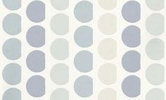 Ditto Porcelain (1623/047) - Prestigious Wallpapers - An all over wallpaper design which features a stylised circle design, which creates a contemporary stripe effect when hung. Shown here in the porcelain colourway. Other colourways are available. Please request a sample for a true colour match. Paste-the-wall product. Pattern repeat is 8cm, not as stated below.
