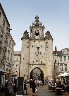 Porte de la Grosse Horloge in La Rochelle, Charente Maritime.
