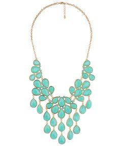 teardrop bib necklace