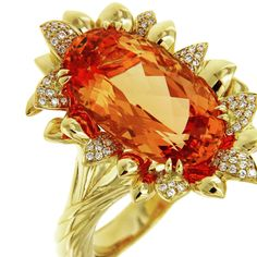 The most sought after Topaz in the world - KAT FLORENCE 7ct #Imperial #Topaz #handcarved #rare #color #flames #GoodMorning #diamonds #fire #flames #red