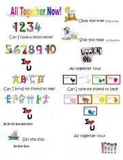 English worksheet: All together now!