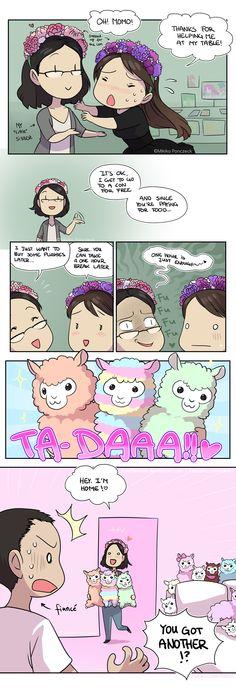 Llama Fever by Zombiesmile.deviantart.com on @DeviantArt