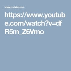 https://www.youtube.com/watch?v=dfR5m_Z6Vmo