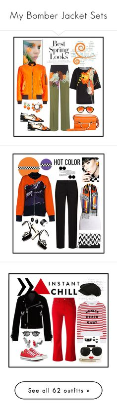 """""""My Bomber Jacket Sets"""" by romaboots-1 ❤ liked on Polyvore featuring Stanley Furniture, H&M, Dries Van Noten, Borbonese, Toga, Kate Spade, Moschino, Saturnino, Brunello Cucinelli and Valentino"""